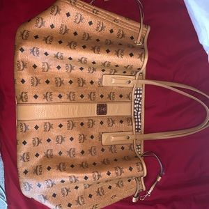 MCM Large Liz Tote Bag Cognac